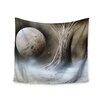 "KESS InHouse ""Black White Tree"" by Infinite Spray Art Wall Tapestry"