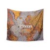 """KESS InHouse """"Travel Map"""" by Sylvia Cook Wall Tapestry"""