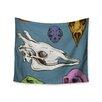 """KESS InHouse """"Skulls"""" by Sophy Tuttle Wall Tapestry"""