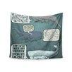 "KESS InHouse ""Whale Talk"" by Sophy Tuttle Wall Tapestry"