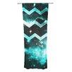 KESS InHouse Galaxy Chevron by Alveron Sheer Curtain Panel (Set of 2)