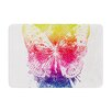 KESS InHouse Butterfly Skull by Frederic Levy-Hadida Bath Mat