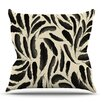 KESS InHouse Feather Pattern by Skye Zambrana Outdoor Throw Pillow