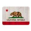KESS InHouse California Flag Wood by Bruce Stanfield Bath Mat