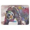 KESS InHouse Grizzly Bear Watercolor Bath Mat