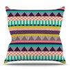 KESS InHouse Decorative Stripes by Louise Machado Outdoor Throw Pillow