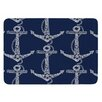 KESS InHouse Floral Anchors by Amy Reber Bath Mat