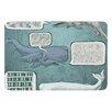 KESS InHouse Whale Talk by Sophy Tuttle Bath Mat