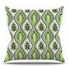 KESS InHouse Oak Leaf by Jacqueline Milton Outdoor Throw Pillow