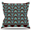 KESS InHouse Deco Angels Choco by Nina May Outdoor Throw Pillow