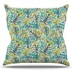 KESS InHouse Tropical Leaves by Julia Grifol Outdoor Throw Pillow