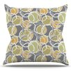 KESS InHouse Simple Circles by Julia Grifol Outdoor Throw Pillow