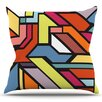 KESS InHouse Abstract Shapes by Danny Ivan Outdoor Throw Pillow