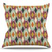 KESS InHouse Sequoyah Ovals by Amanda Lane Outdoor Throw Pillow