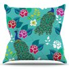 KESS InHouse Mexican Peacock by Anneline Sophia Outdoor Throw Pillow