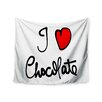 KESS InHouse I Love Chocolate by Gabriela Fuente Wall Tapestry