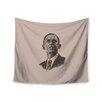 "KESS InHouse ""Barack Obama"" by BarmalisiRTB Wall Tapestry"