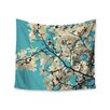 """KESS InHouse """"White Magnolias"""" by Sylvia Cook Wall Tapestry"""