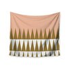 "KESS InHouse ""Peach Geo"" by Suzanne Carter Wall Tapestry"