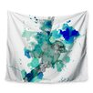 KESS InHouse A Cardinal In Blue by Kira Crees Wall Tapestry