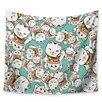 KESS InHouse Ramen Cats by Juan Paolo Wall Tapestry