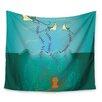KESS InHouse Octopus Flying Manta Rays by Famenxt Wall Tapestry