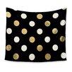 KESS InHouse Golden Dots Wall Tapestry