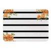 KESS InHouse Floral Stripes by NL Designs Memory Foam Bath Mat