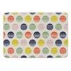 KESS InHouse Rainbow Dots by Gukuuki Memory Foam Bath Mat