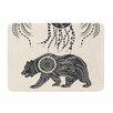 KESS InHouse Boho Ornate Bear by Famenxt Memory Foam Bath Mat