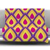 KESS InHouse Pineapple Fleece Throw Blanket