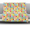 KESS InHouse Colorful Check Fleece Throw Blanket