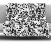 KESS InHouse Leaves Fleece Throw Blanket