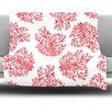 KESS InHouse Coral by Anchobee Fleece Throw Blanket