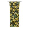 KESS InHouse Yellow Flowers Curtain Panel (Set of 2)