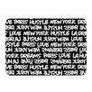 KESS InHouse Lux Writing by Just L Memory Foam Bath Mat