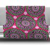 KESS InHouse Watermelon Mandala Fleece Throw Blanket