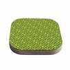 """KESS InHouse """"Leafy Lozenges"""" 4 Coasters Set (Set of 4)"""