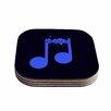 "KESS InHouse ""Night Music"" 4 Coasters Set (Set of 4)"