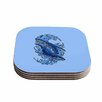 "KESS InHouse ""Humpback Whales "" 4 Coasters Set (Set of 4)"