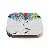 "KESS InHouse ""Watercolor Spring"" 4 Coasters Set (Set of 4)"