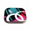 "KESS InHouse ""Channel Zero"" 4 Coasters Set (Set of 4)"