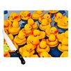 KESS InHouse Duckies Cutting Board
