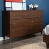 South Shore Olly Mid Century Modern 6 Drawer Dresser