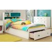 South Shore Little Monsters Twin Mate's Bed with Storage