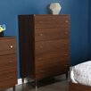 South Shore Olly Mid-Century Modern 5 Drawer Chest