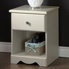 South Shore Country Poetry 1 Drawer Nightstand
