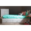 South Shore Crystal Twin Mates Bed with 1 Duvet Cover and Pillowcase