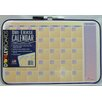 Dooley Boards Inc Assorted Designs Calendar Dry Erase Graphic/Grid Whiteboard, 1' H x 1' W