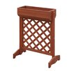 Planters and Potts Fir Wood Planter Box with Trellis - Convenience Concepts Planters